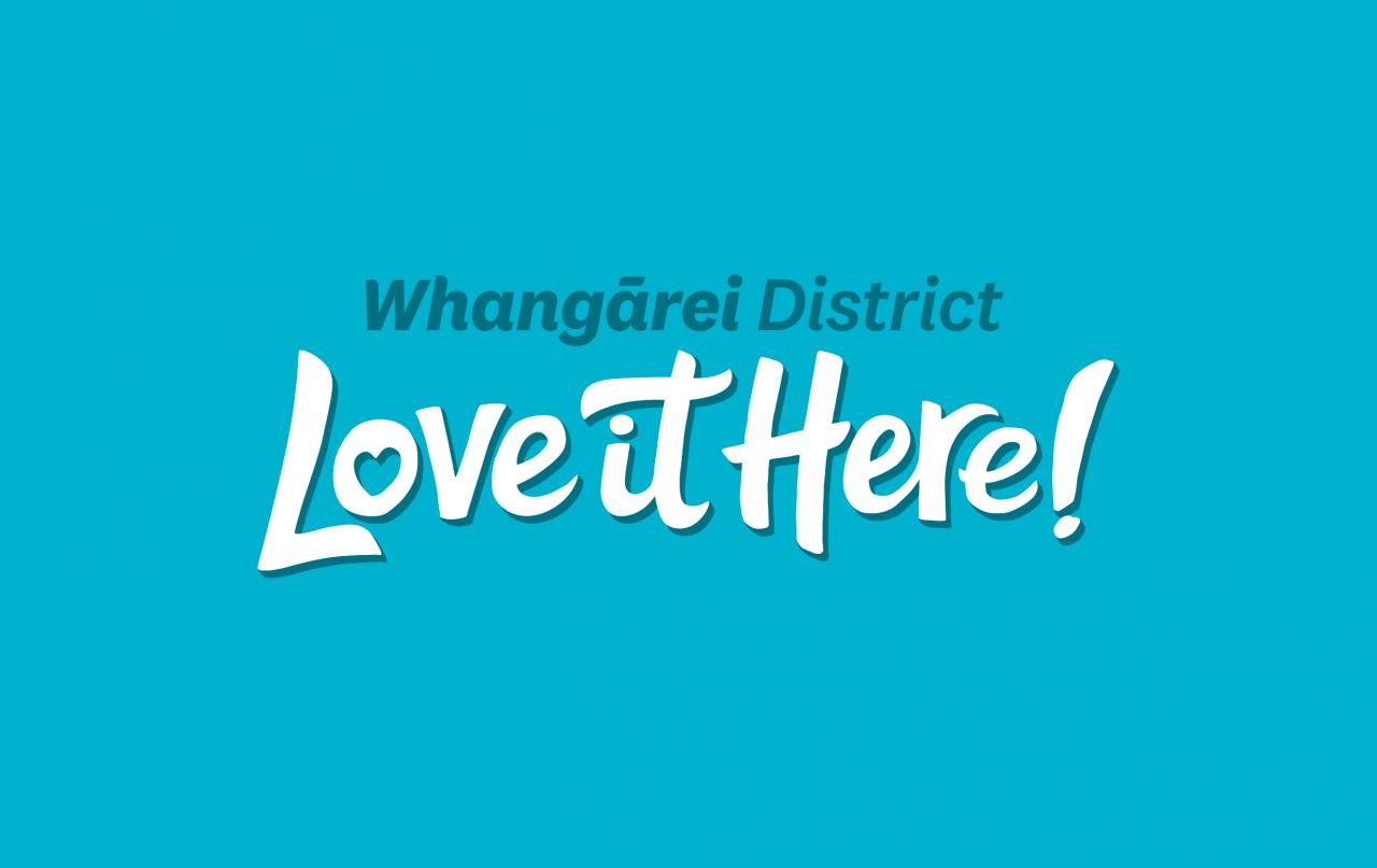 Whangarei District Love it Here logo