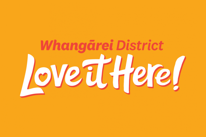 Whangarei District Love it Here logo