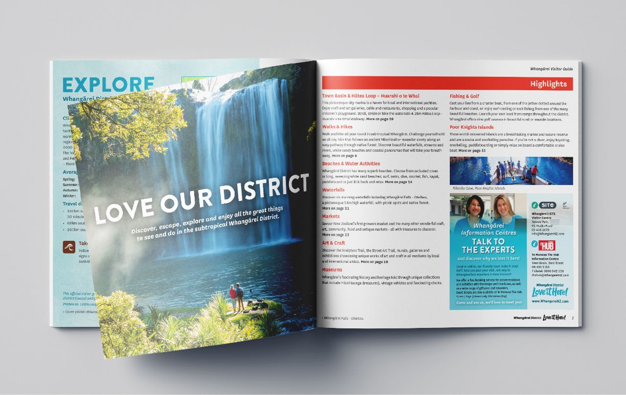 Whangarei District - Love it Here Visitor Guide opened