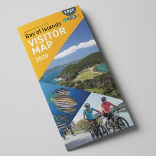 Front cover of the Bay of Islands Visitor Map