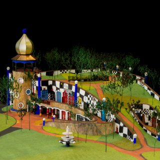 Scale model of the Hundertwasser Art Centre, Whangarei