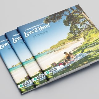 Front cover of the Whangarei Visitor Guide